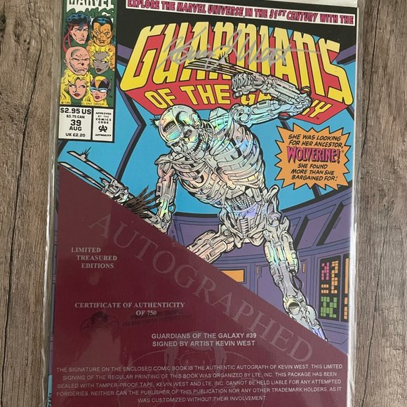 Guardians of the Galaxy #39 Signed Ltd Treasure Ed